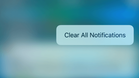 Clear all notifications options in iOS 10.