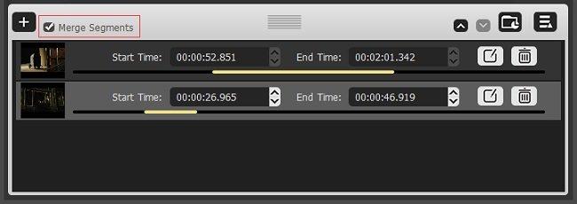 Tuneskit Video Cutter Merge feature
