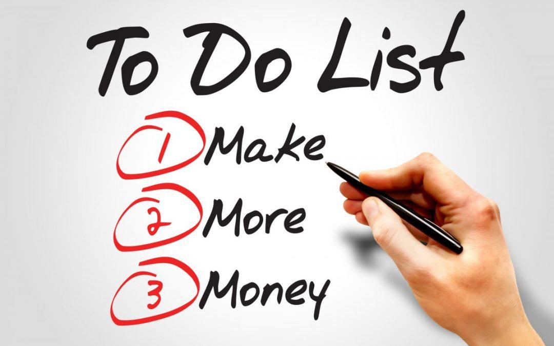 Side hustle to do list