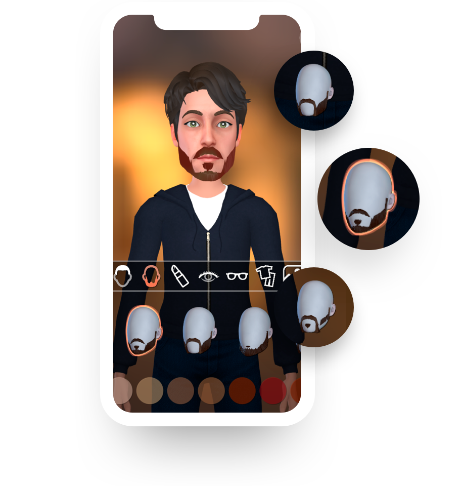 Loomie mobile app - personalized avatar