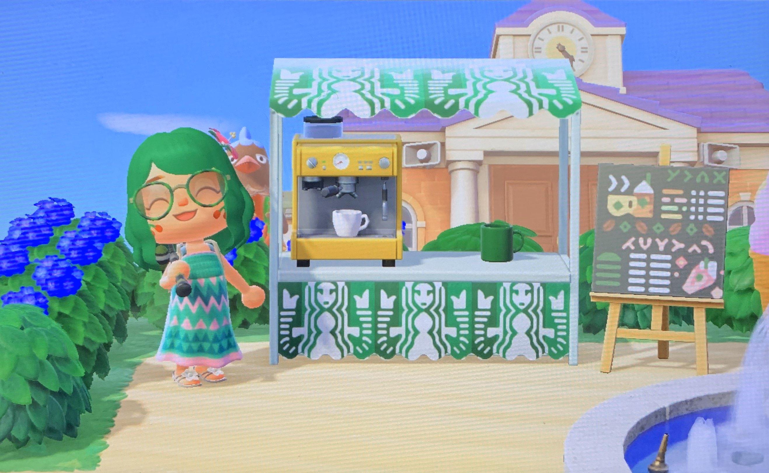 Animal Crossing Starbucks